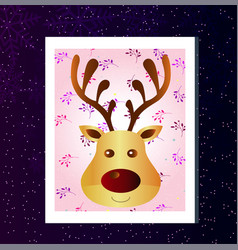 winter flat greeting card with a christmas vector image