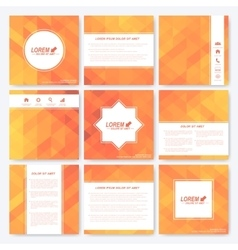 Yellow set of square template brochure Business vector