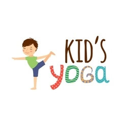Yoga kids isolated logo vector image vector image