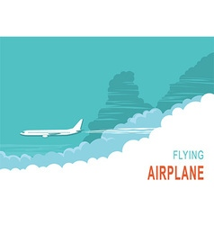 Aircraft and sky background vector image
