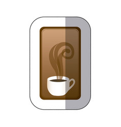 brown long squard symbol of coffee cup vector image vector image