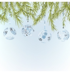 Christmas background template EPS8 vector image vector image