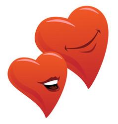 cute smiling romantic hearts couple cartoon vector image vector image