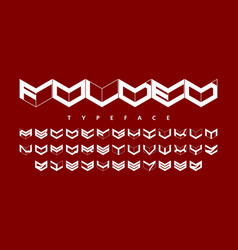folded style font alphabet and numbers vector image