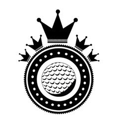Isolated ball of golf design vector image vector image