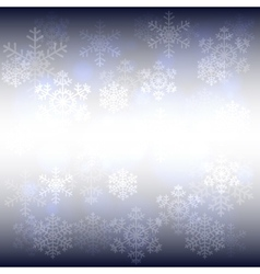 snowflakes and bokeh vector image