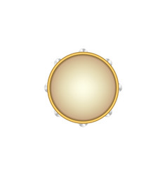 Tambourine musical instrument vector