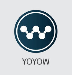 yoyow - cryptographic currency element vector image