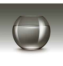Brown glass fishbowl aquarium without fish vector