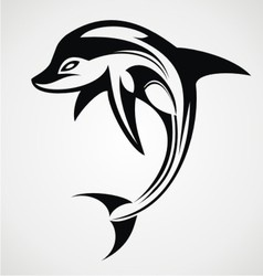 Dolphin Tattoo Design vector image vector image