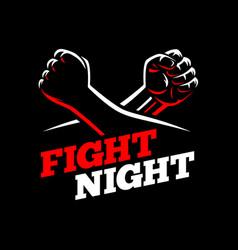 fists fight mma kick boxing karate rebel vector image