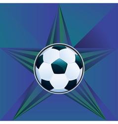 Soccer Ball on Rays Background8 vector image vector image