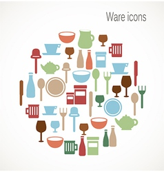 Ware icons vector image