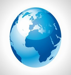Blue Earth Globe stock free vector image