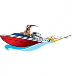 boat freak vector image vector image