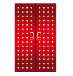 doors imperial red vector image vector image