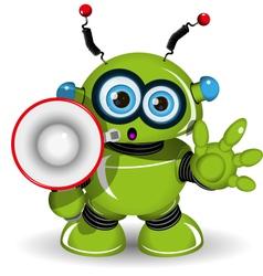 Robot and speaker vector image vector image