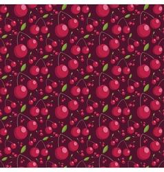 Seamless pattern of juicy cherries vector image vector image