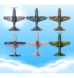 Airplane in military design vector image vector image