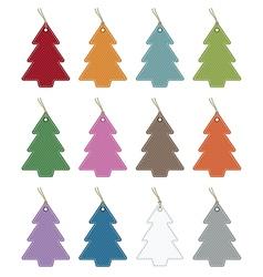christmas tree tags vector image vector image