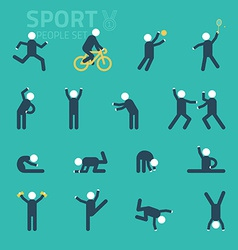 Sports and health People flat icons People play vector image