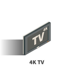 4k tv icon symbol vector image
