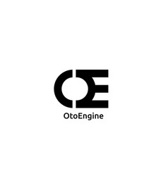abstract initial letter ce or oe logo concept vector image