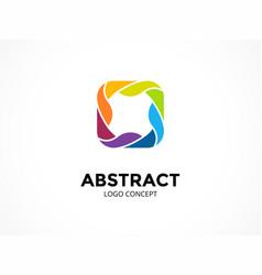 abstract logo template modern circle vector image