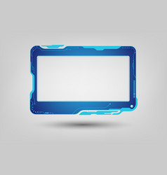abstract tech sci fi hologram frame template vector image