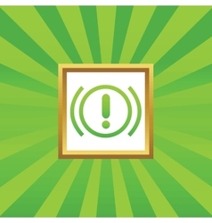 Alert picture icon vector image