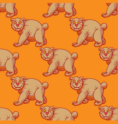amazing bear seamless pattern vector image