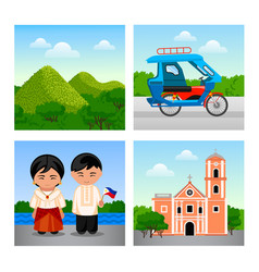 attractions philippines vector image