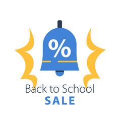 Back to school season sale vector