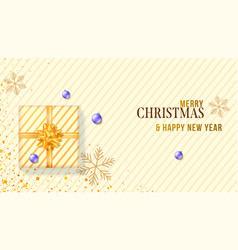 banner for christmas holidays xmas background vector image