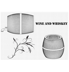 barrel on a white background vector image