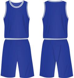basketball set shirt and shorts vector image