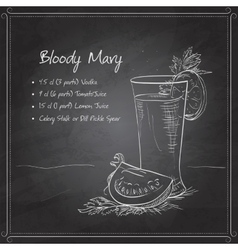 Bloody mary on black board vector