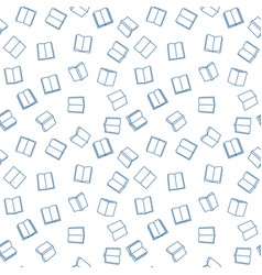 books minimal seamless pattern in outline vector image