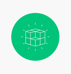 box labyrinth puzzle solution cube white line vector image