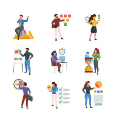 business checklist office people characters vector image
