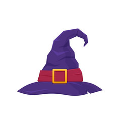 Colorful hat witch wizard mystical hat vector