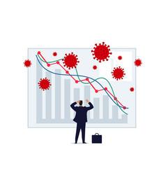 Concept a business crisis due vector
