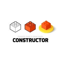 Constructor icon in different style vector image