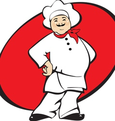 cook man cartoon vector image