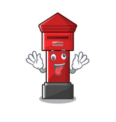 Crazy pillar box on a cartoon highway vector