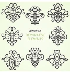 Decorative ethnic elements vector
