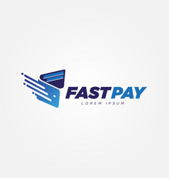 Digital fast payment wallet logo sign symbol icon vector