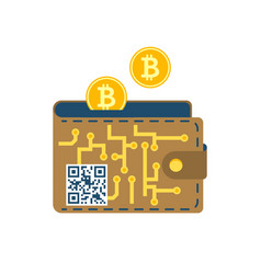 digital wallet flat icon vector image