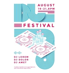 Dj festival poster vector