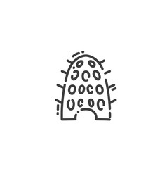 dovecote egyptian house for pigeons flat outline vector image